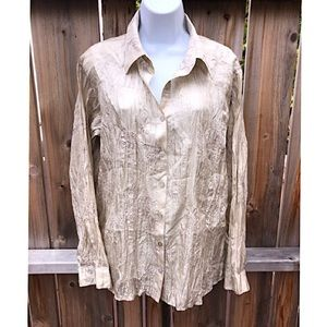 🌟Chico's gold embellished detailed blouse🌟